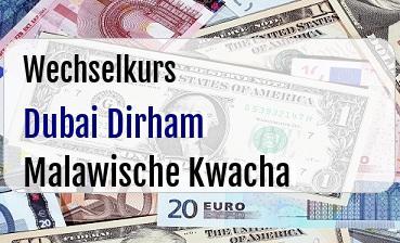 Dubai Dirham in Malawische Kwacha