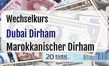 Dubai Dirham in Marokkanischer Dirham