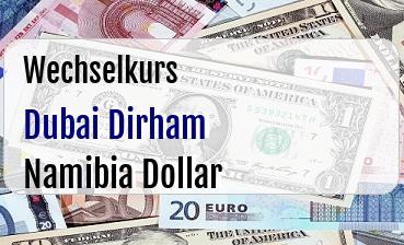 Dubai Dirham in Namibia Dollar