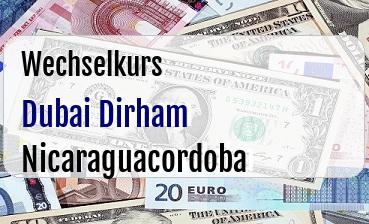 Dubai Dirham in Nicaraguacordoba