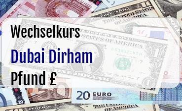 Dubai Dirham in Britische Pfund