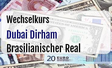 Dubai Dirham in Brasilianischer Real
