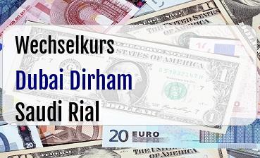Dubai Dirham in Saudi Rial