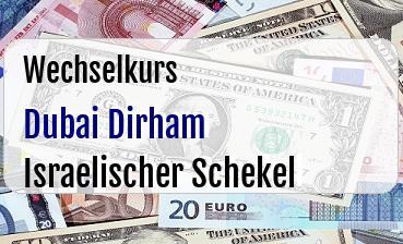 Dubai Dirham in Israelischer Schekel