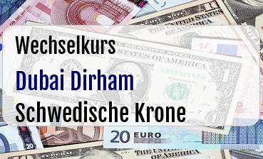 Dubai Dirham in Schwedische Krone