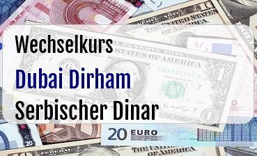 Dubai Dirham in Serbischer Dinar