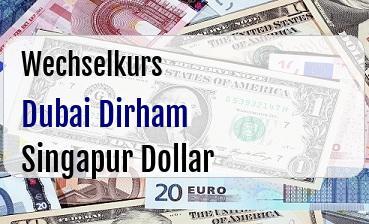 Dubai Dirham in Singapur Dollar