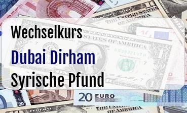 Dubai Dirham in Syrische Pfund