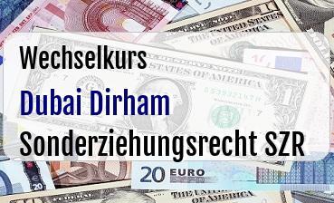 Dubai Dirham in Sonderziehungsrecht SZR