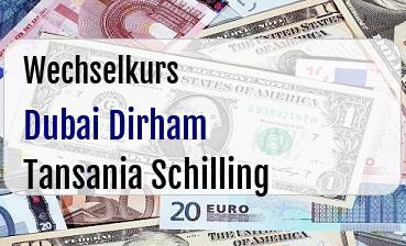 Dubai Dirham in Tansania Schilling