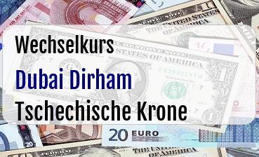 Dubai Dirham in Tschechische Krone