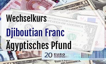 Djiboutian Franc in Ägyptisches Pfund