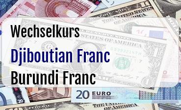 Djiboutian Franc in Burundi Franc