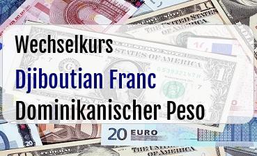 Djiboutian Franc in Dominikanischer Peso