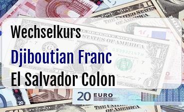 Djiboutian Franc in El Salvador Colon