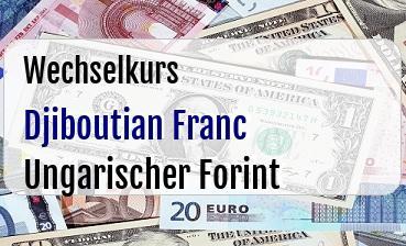 Djiboutian Franc in Ungarischer Forint