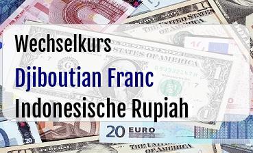 Djiboutian Franc in Indonesische Rupiah