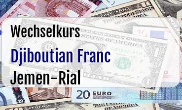 Djiboutian Franc in Jemen-Rial