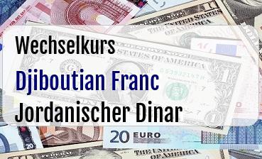 Djiboutian Franc in Jordanischer Dinar