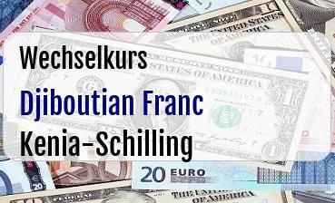 Djiboutian Franc in Kenia-Schilling