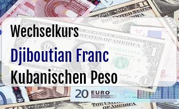 Djiboutian Franc in Kubanischen Peso