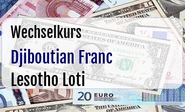 Djiboutian Franc in Lesotho Loti