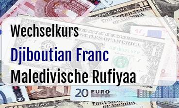 Djiboutian Franc in Maledivische Rufiyaa