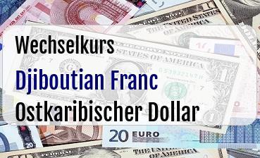 Djiboutian Franc in Ostkaribischer Dollar