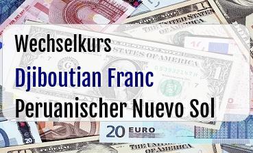 Djiboutian Franc in Peruanischer Nuevo Sol