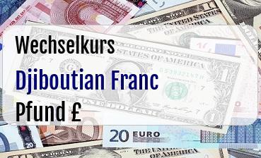 Djiboutian Franc in Britische Pfund
