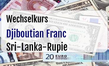 Djiboutian Franc in Sri-Lanka-Rupie
