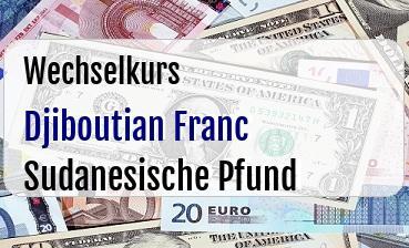 Djiboutian Franc in Sudanesische Pfund