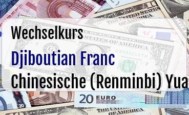 Djiboutian Franc in Chinesische (Renminbi) Yuan