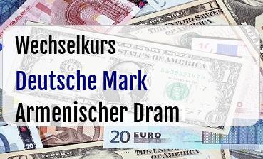 Deutsche Mark in Armenischer Dram