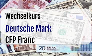 Deutsche Mark in CFP Franc