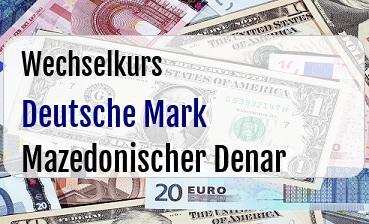 Deutsche Mark in Mazedonischer Denar