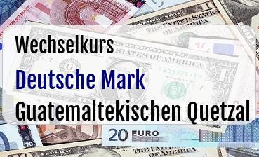 Deutsche Mark in Guatemaltekischen Quetzal