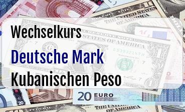 Deutsche Mark in Kubanischen Peso