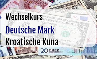 Deutsche Mark in Kroatische Kuna