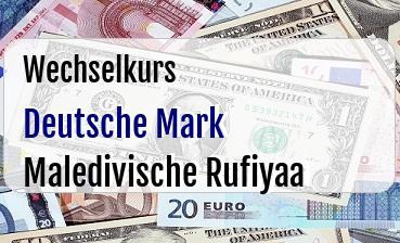 Deutsche Mark in Maledivische Rufiyaa