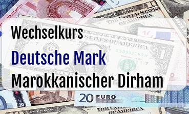 Deutsche Mark in Marokkanischer Dirham