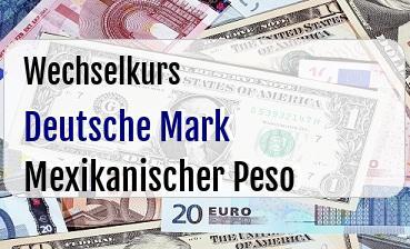 Deutsche Mark in Mexikanischer Peso