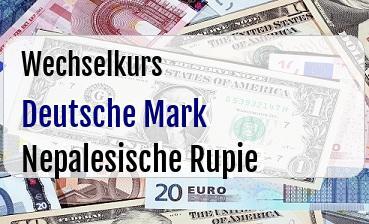 Deutsche Mark in Nepalesische Rupie