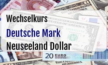 Deutsche Mark in Neuseeland Dollar