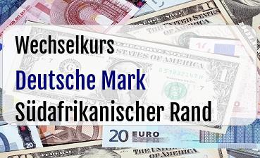 Deutsche Mark in Südafrikanischer Rand