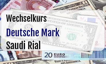 Deutsche Mark in Saudi Rial