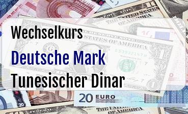 Deutsche Mark in Tunesischer Dinar