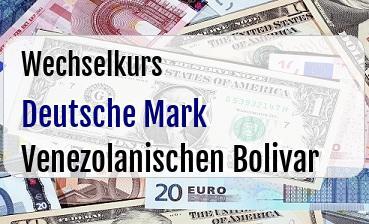 Deutsche Mark in Venezolanischen Bolivar