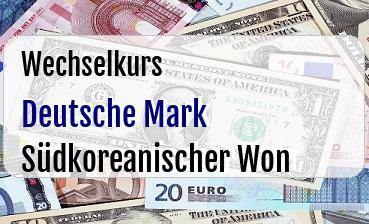 Deutsche Mark in Südkoreanischer Won