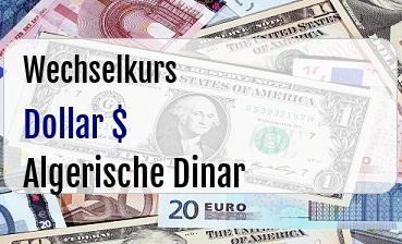US Dollar in Algerische Dinar